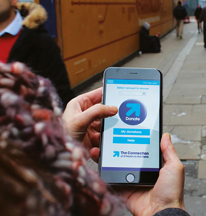Homeless charity The Connection at St Martin's launches 'Donate Locate' smartphone app