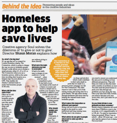 Homeless app to help save lives